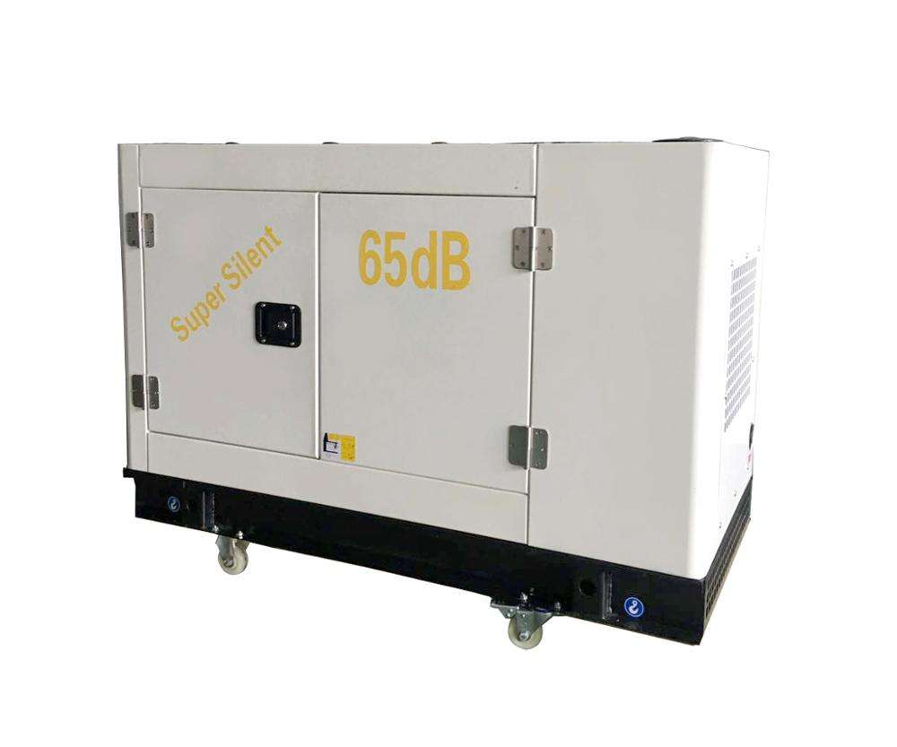 Cheap CE single cylinder mobile super quiet 10kva diesel power small generator machine