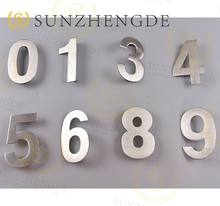 European style Stainless Steel Invisible Screw Door House Number