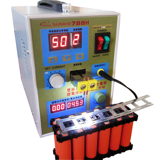 3 in 1 Double Pulse Battery Spot Welder & Lithium Battery Assembly Test Workstation& Battery Charger 788H