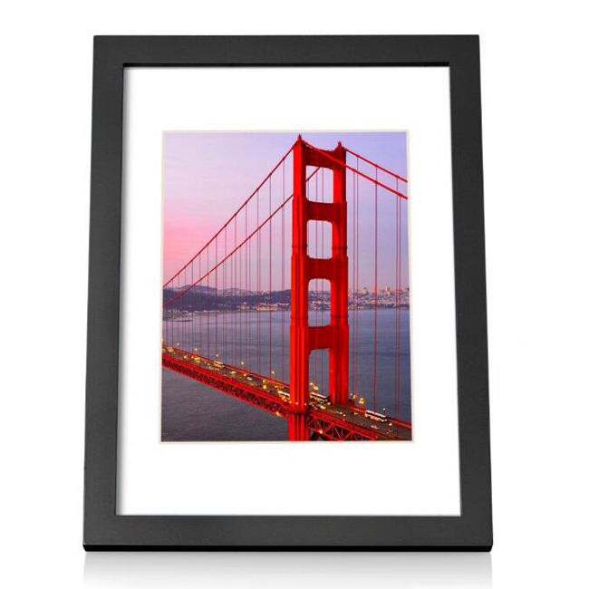Wholesale bulk A4 Picture Photo frame Tabletop Desktop and Wall Hanging Wood wall canvas Frames black white blue red