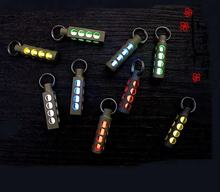 NEW Automatic FlashinLight Keychain Titanium Tritium Self-luminous Fluorescent Tube Glow Luminous Light Emergency Survival Tools