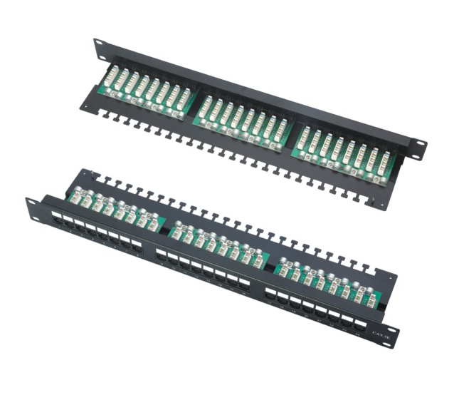 UTP 24 PORTS PATCH PANE CAT5E CAT6 UTP 12 PORTS PATCH PANEL WITH LED manufacturer