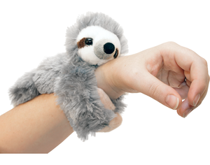Creative Slap Bracelet Plush Toy Promotional Sloth Huggers Stuffed Animal Tiger Plush Toy