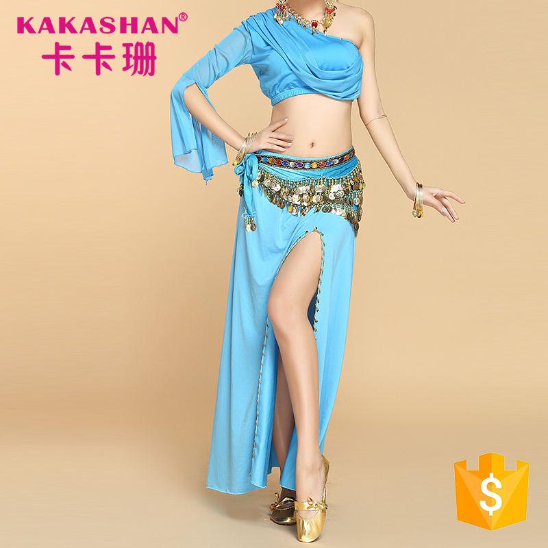 女性のセクシーなプロの衣装インドのドレススーツベリーダンス着用