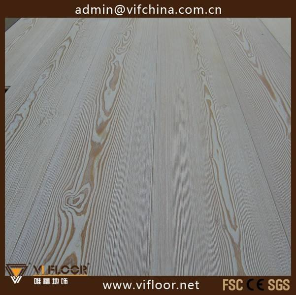 Brushed Wide Plank Siberian Larch Wood Flooring