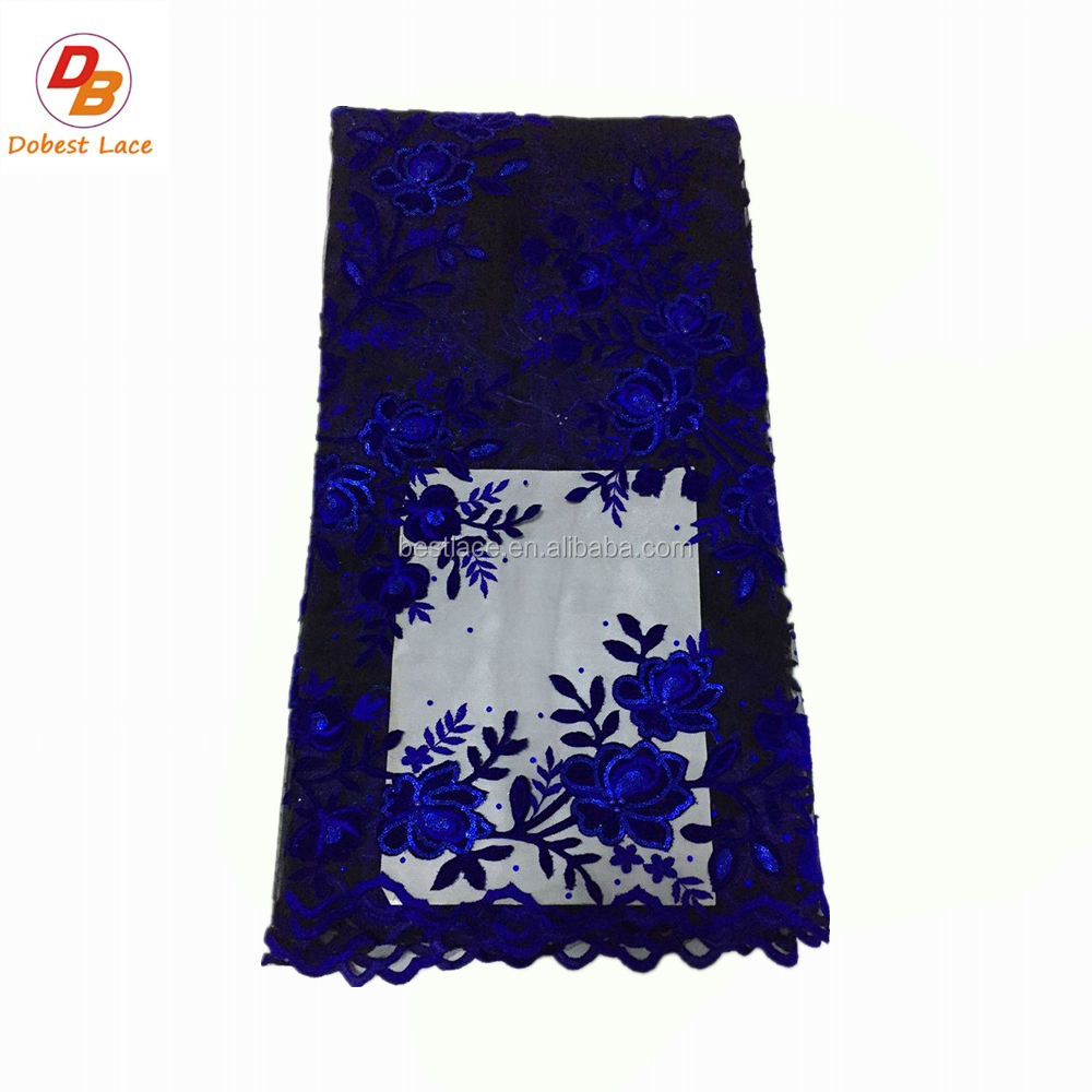 China Best Selling Guipure Lace Embossed Velvet Fabric