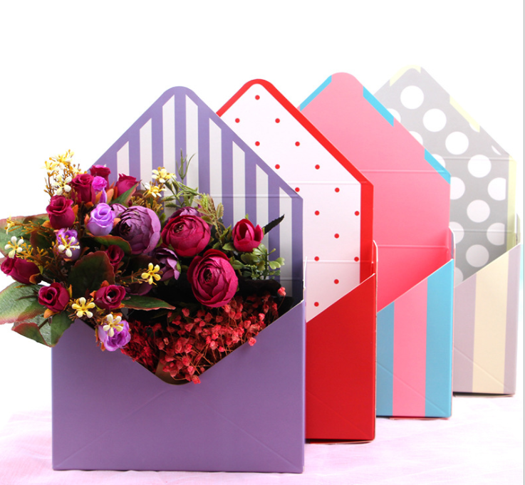 Fashion design paper packing boxes envelope for flower