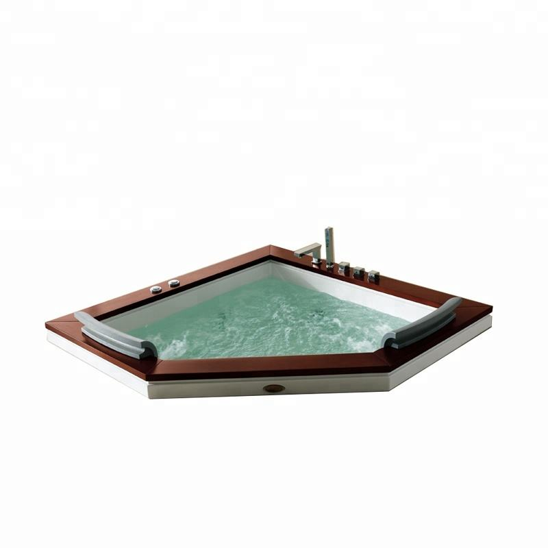 SM60503B Australian triangle without panel build in ground whirlpool acrylic bathtub indoor massage baths hot tub