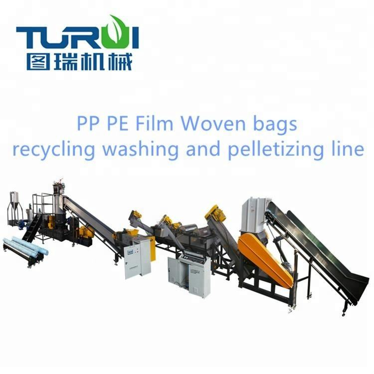 PE PP ABS PC PET scraps films Woven bags Plastic pelletizer