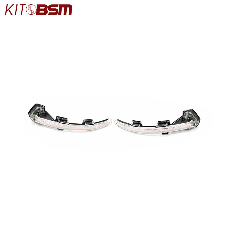 kitbsm Smoked and Crystal B8 12v dynamic sequential blinker mirror turn signal for B8 2016~ON