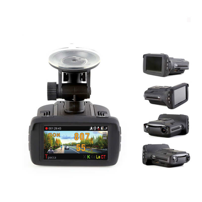 Camera radar 2K Ambarella Car DVR Accident Camera Video Recorder 3 in 1