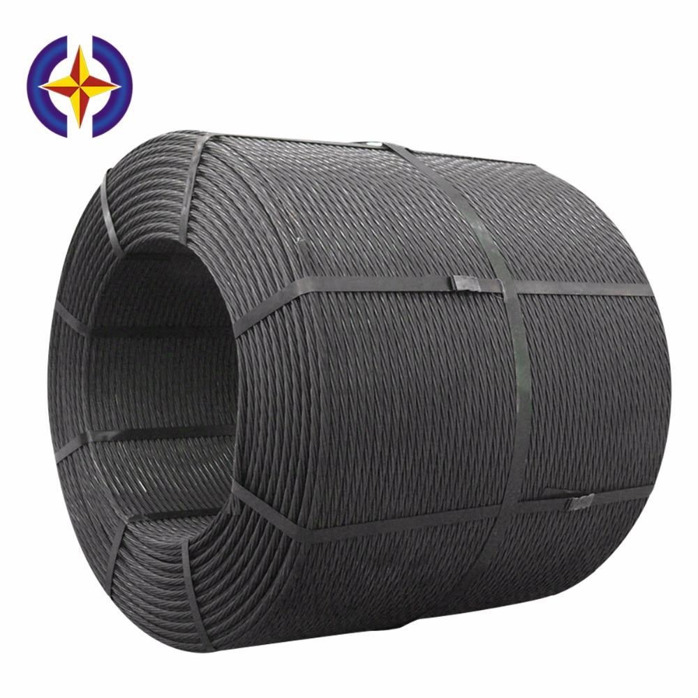 Hengxing High Strength Low Relaxation PC Wire Cement Concrete Steel Strand Cable for high buildings