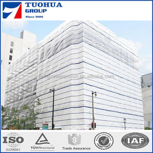 Standard and Flame Retardant Grades Temporary Scaffold Sheeting for Weather Protection and Containment Solutions