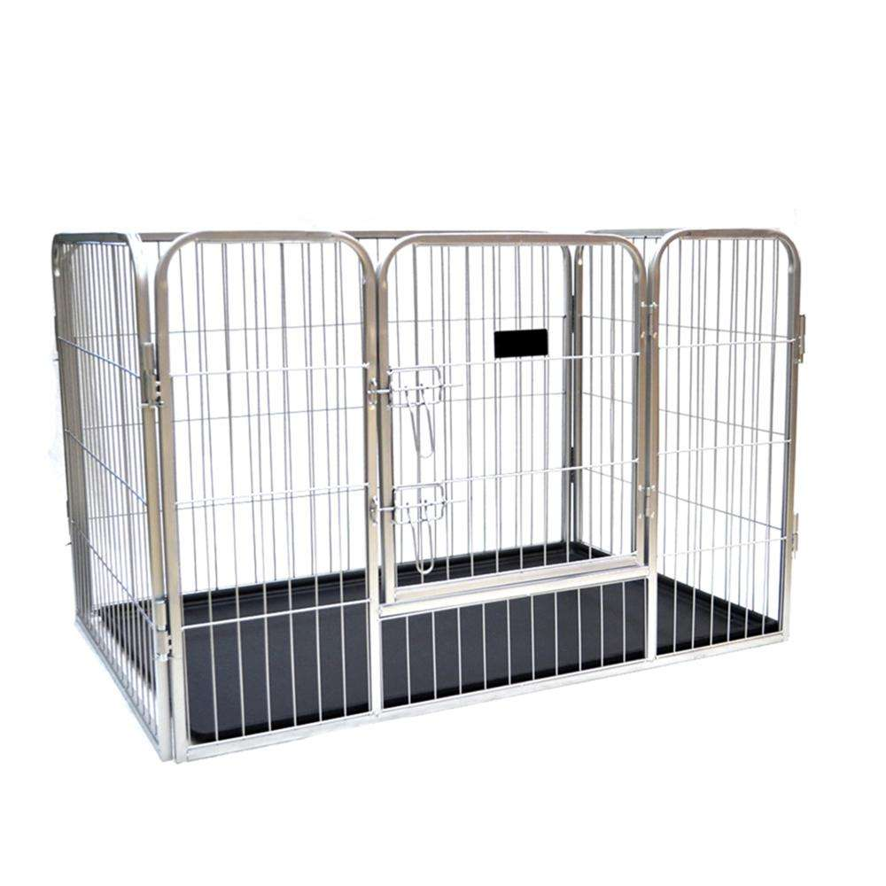 Wholesale Large Dog Kennels Pet Pen Cage Bottom Tray / Open Top Metal Tube Wire Mesh Dog Cage For Sale Cheap