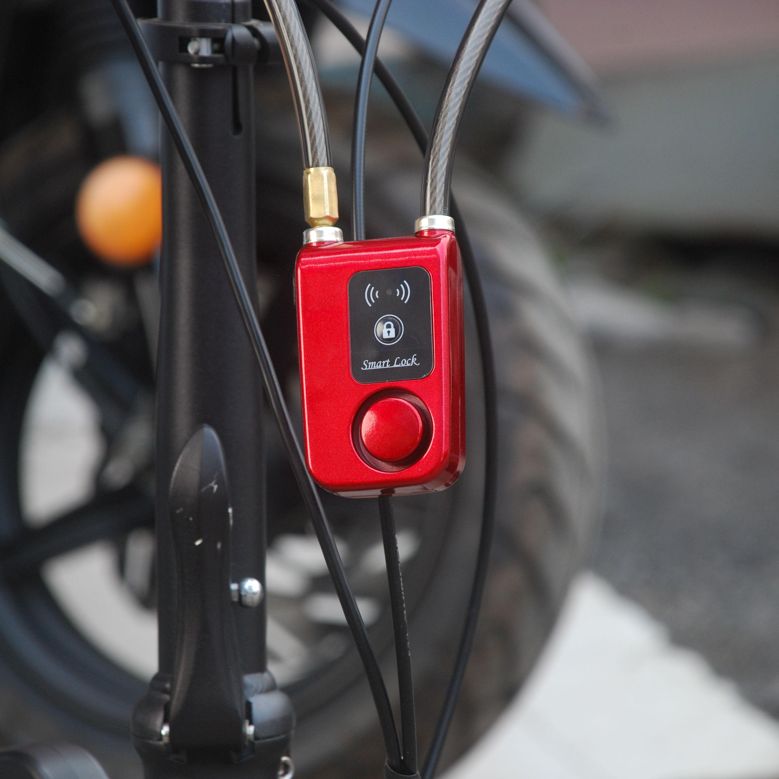Electronic Password Control Alarm Security Lock Chain pour sacs de vélo