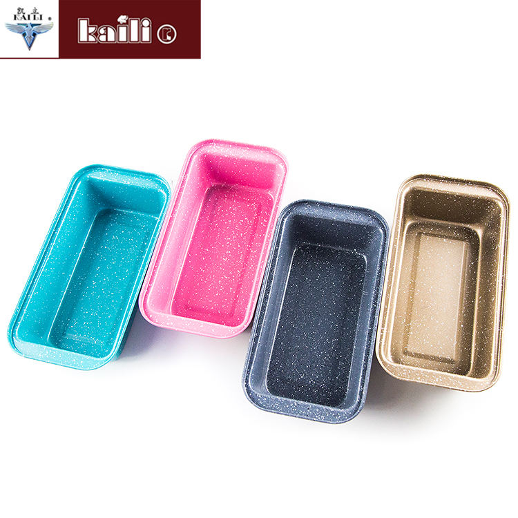 Baking Tools Wholesale Colorful Rectangle Aluminum Bread Loaf Pan