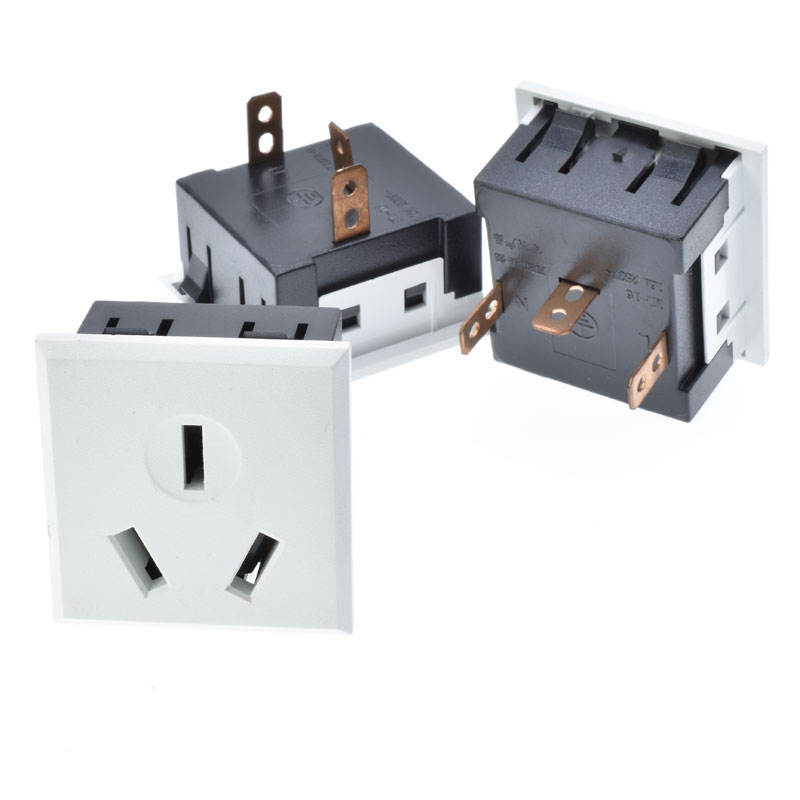 AC power socket 16A250V 3 gat grote power kan inlaat China AUS airconditioning stopcontact lassen sluit elektrische socket