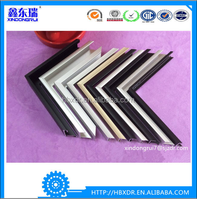 Red blue black white colorful powder coated aluminum colorful picture photo frames