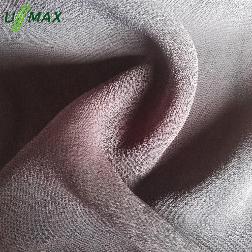 100% Viscose 120 Denier satin jacquard fabric for women's fashion dress