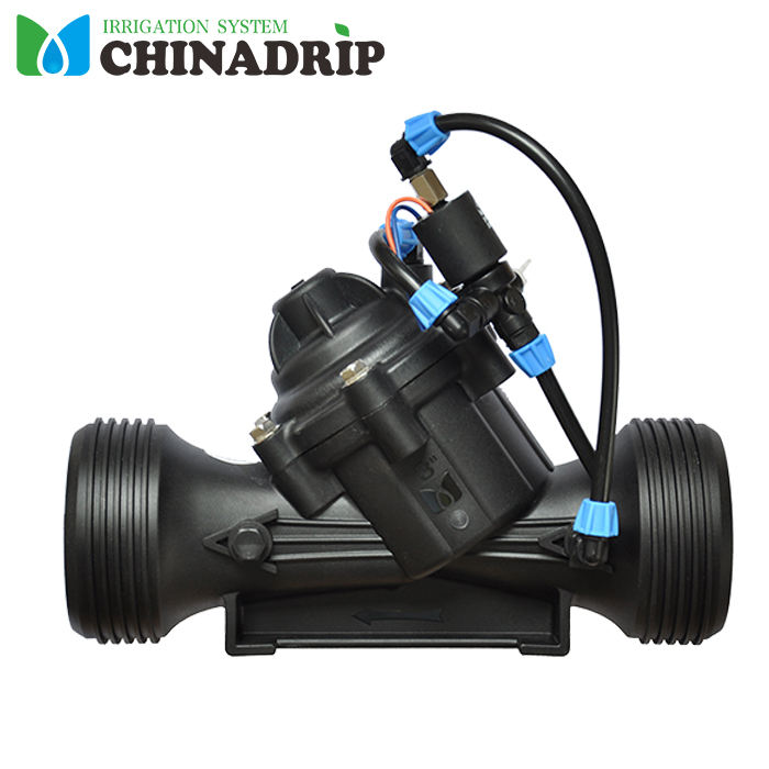 Irrigation System Hydraulic Water Control Valve With Three-way Manual