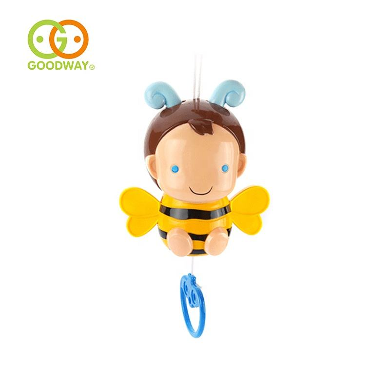 early learning cartoon bee pull line bell toy with sound