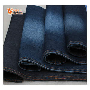 Fake knitted denim fabric 75% cotton23%polyster2%spandex denim fabric for jeans clothes