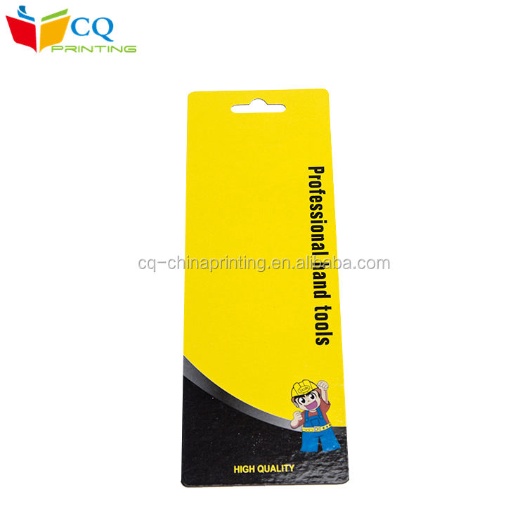 Glossy lamination Printed Paper Card With Hanger