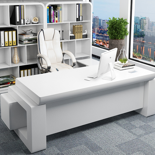 Modern office desk with white executive office table/office furniture