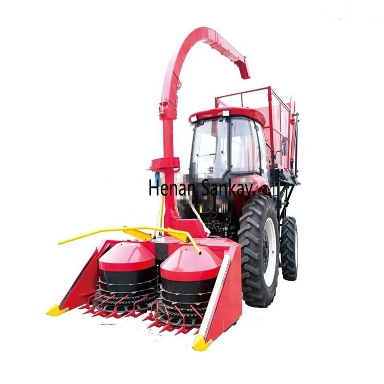 Two rows grass/corn silage harvester/cutting machine