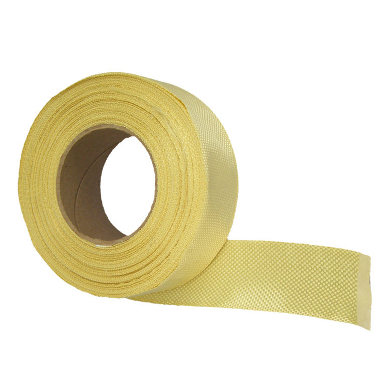 טמפרטורה גבוהה 50mm רחב מארג רגיל 190gm2 Aramid ארוג <span class=keywords><strong>קלטת</strong></span>