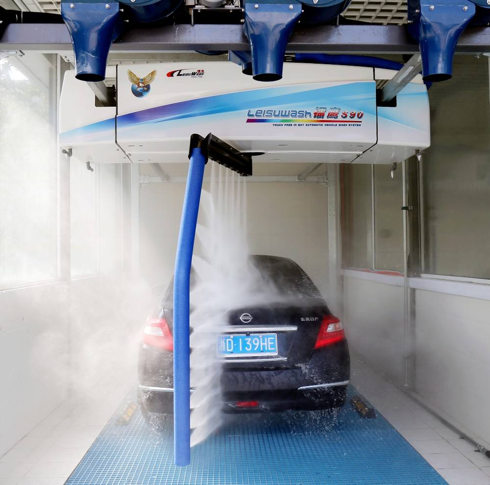 Fuel station Leisu wash S90 fully automatic air dry touchless car vehicle wash machine equipment system CE certification