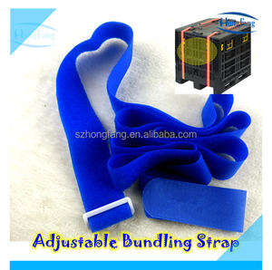 Reusable hook and loop pallet quick strap