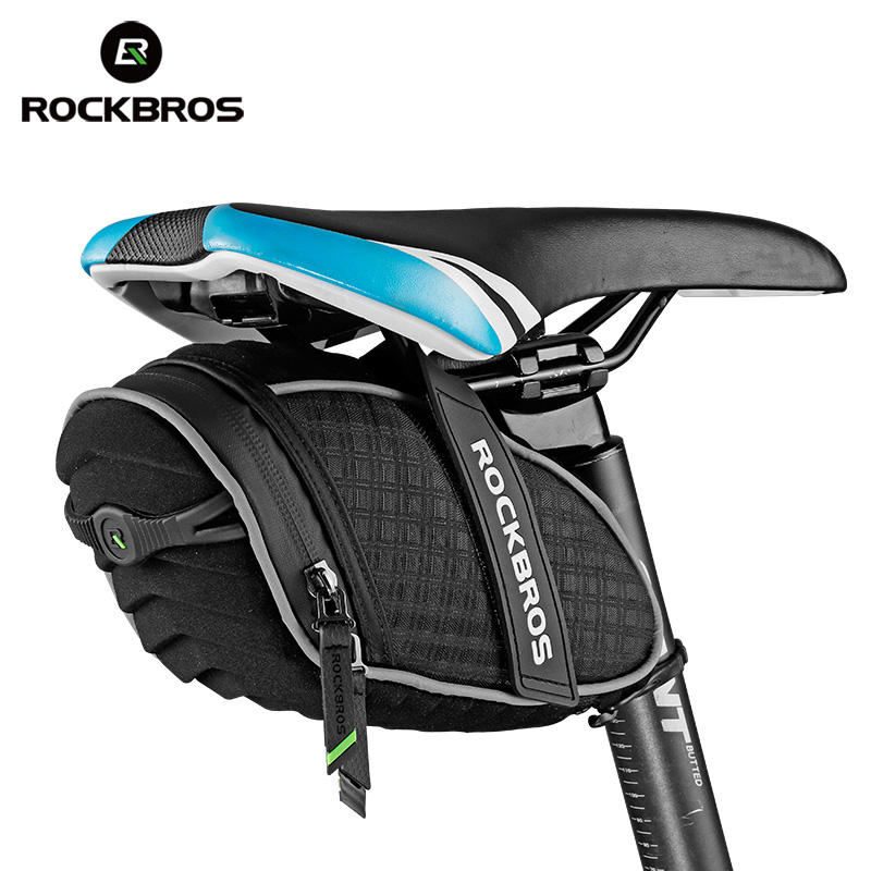ROCKBROS Bicycle Bag 3D Shell Rainproof Saddle Reflective Shockproof Cycling Rear Seatpost Bag Accessories