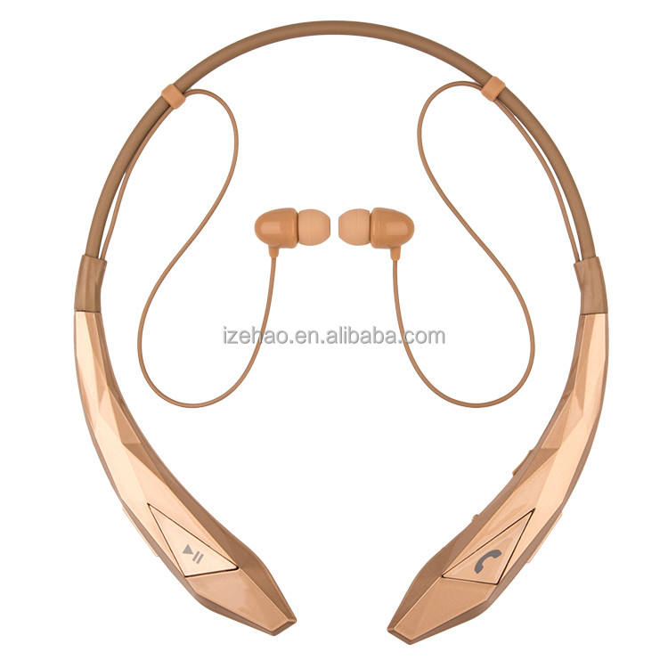 China factory wholesale price noise cancelling stereo sound neckband wireless earphone for all kinds phones