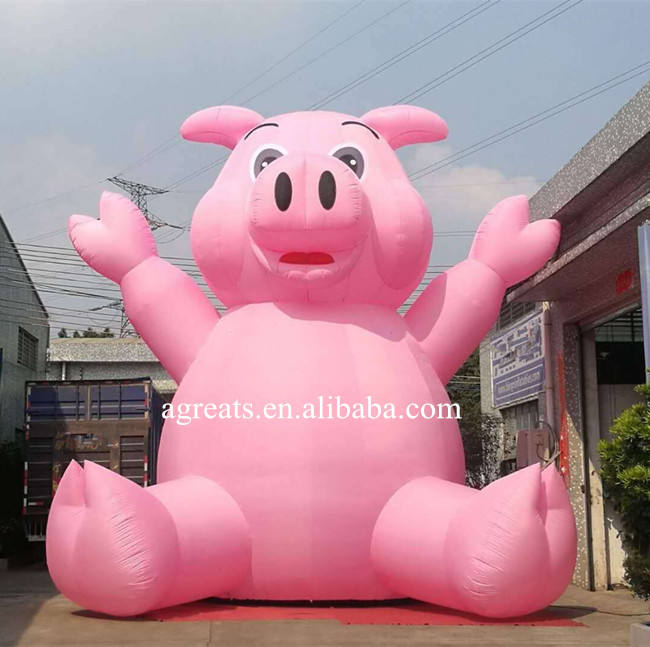 Giant inflatable pig balloons advertising air balloon with logo printing S2005