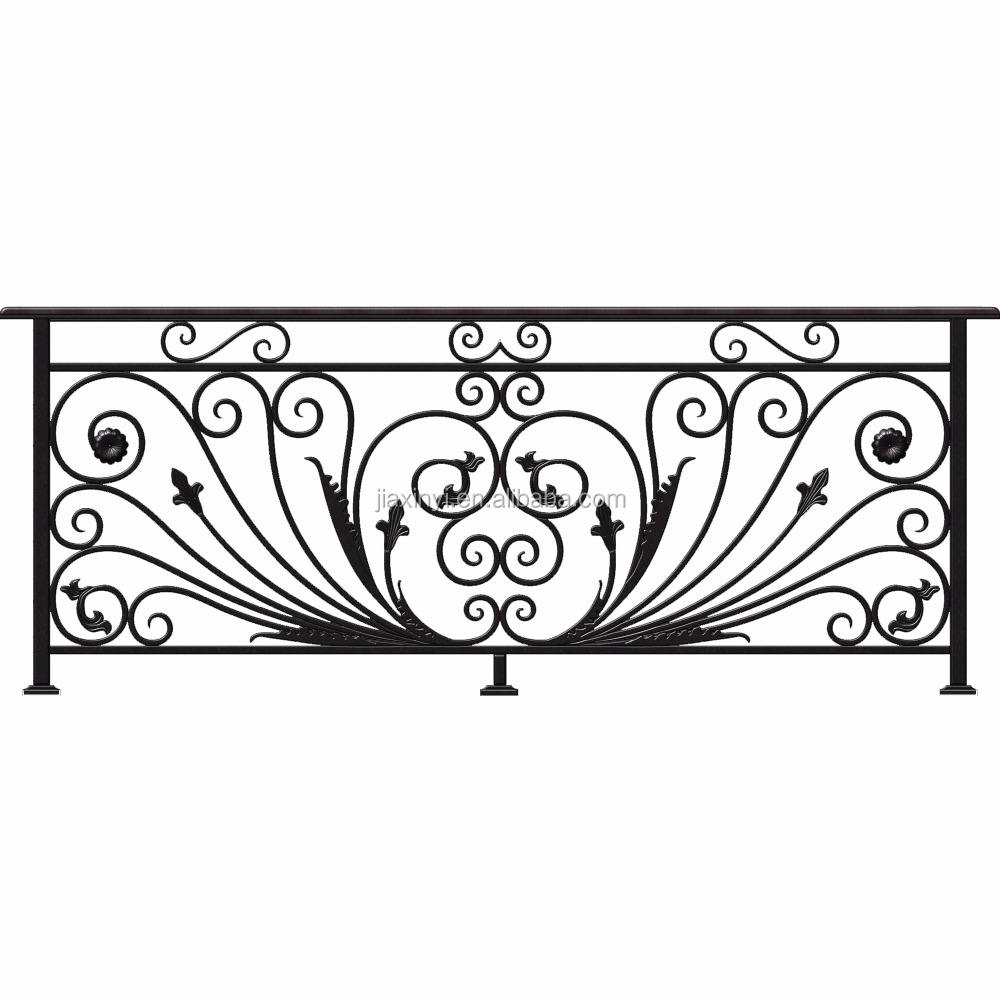 High quality iron balcony railings designs for wrought iron stairs