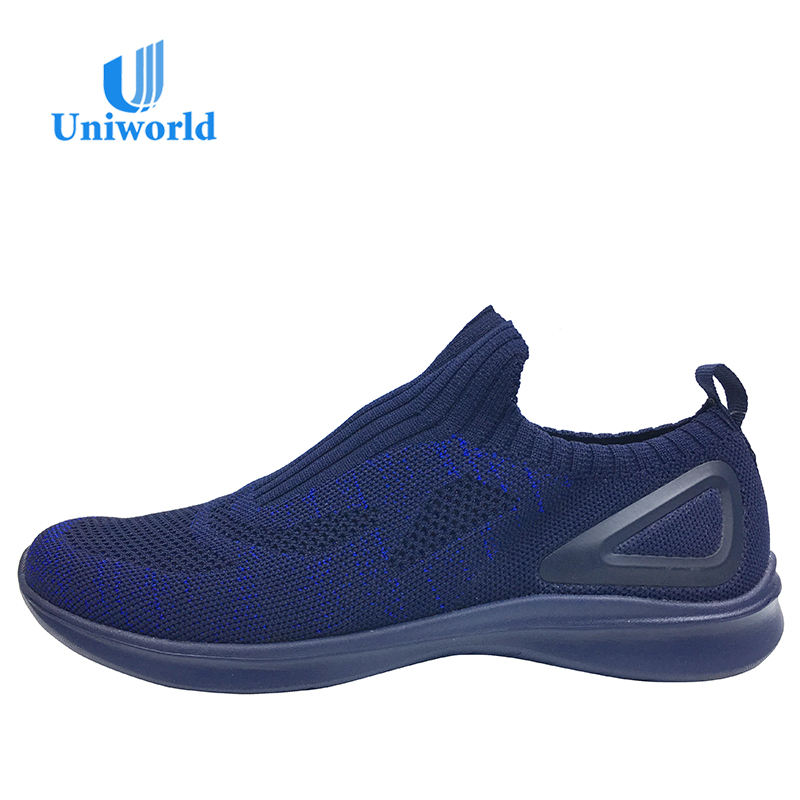 Custom Black Knit Sneakers Men Sneakers Imported From China