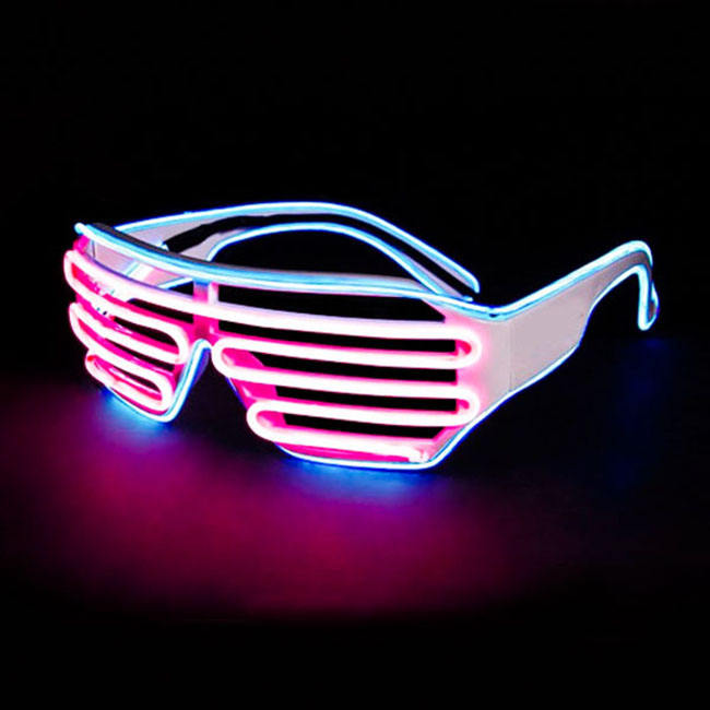 Party Accessoires Neon Light Electroluminescent EL Equalizer Bril Met Custom Logo