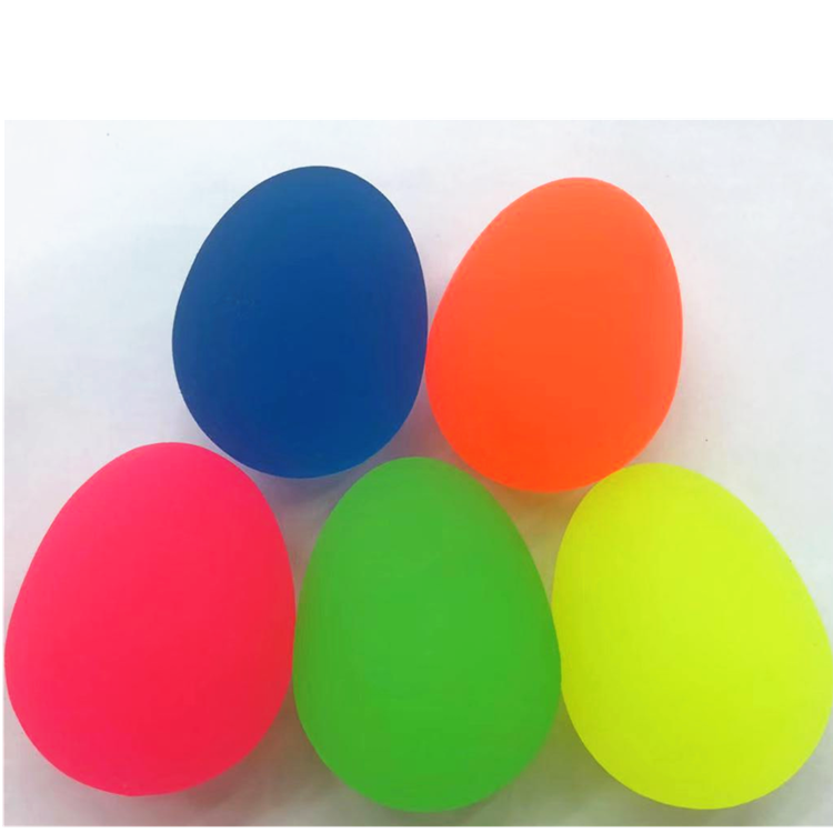 neon egg shaped bouncy ball pets toys