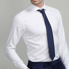 Luxury 100% cotton slim fit business men white shirt