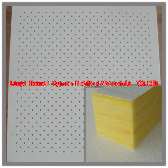 glass wool ceiling tiles (High quality Sound absorption )/ Fiberglass Acoustic Ceiling, wool glass ceiling tiles (600*600 / 600*