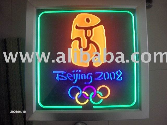 Neon Effect Wall Light For 2008 Olympic
