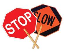 Reflective Stop Slow Sign Paddle