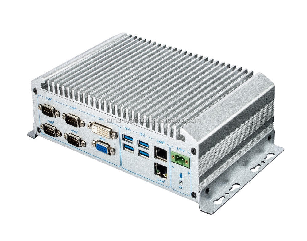 Intel Broadwell i3/i5/i7 CPU Industrial Embedded Computers NIS-898 IPC Fanless Mini Box PC