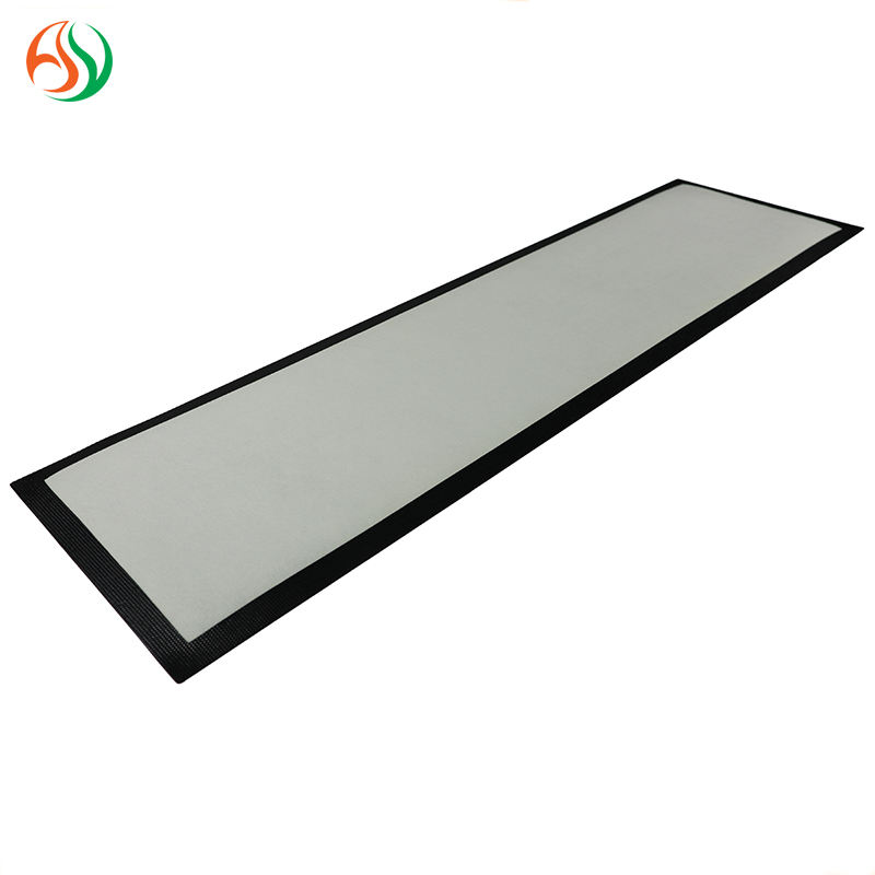 AY Nitrile Rubber Material Blank White Bar Runner Non Woven Fabric Felt Bar Mat Custom Beermat For Sublimation Printing