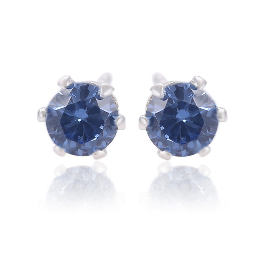 26728 Xuping 4mm dark blue diamond earrings ,handmade gold earrings ,private label jewelry