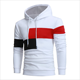 Wholesale Customize Sports Casual Hoodies Contrast Gym Hoodie Sweatshirts Man Hoody