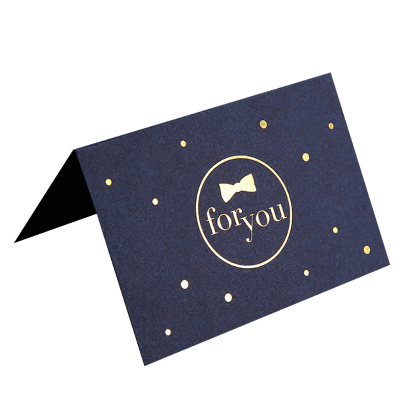 Custom Design Gold Foiled Art Paper Welcome Thank you Invitation Cards