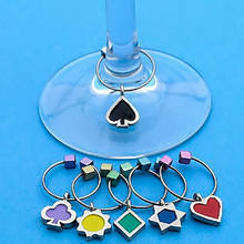 custom printing high heel wine glass charm