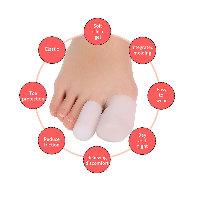 For Toes  Corns  Closed Thumb Set Gel Toe Protector Straightener